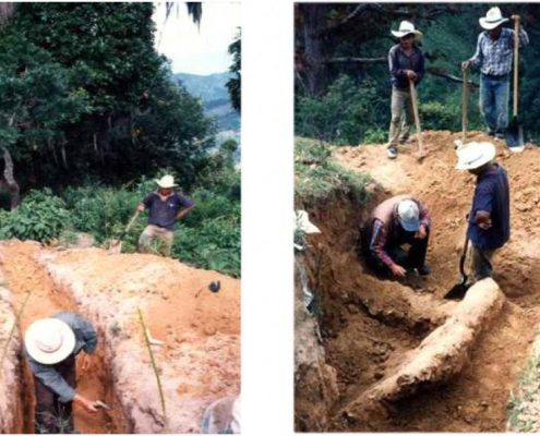Trenching and exposed vein in trenches at the El Cerrito Trend resulted in approximate grade 7g/t Au.
